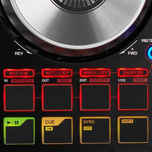DDJ-SB2 performance pads