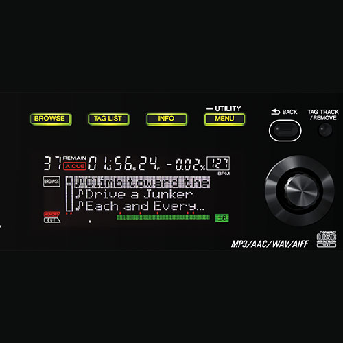 CDJ-850 browse function