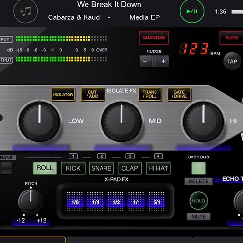 RMX-1000 for iPad Effector app for your iTunes music library