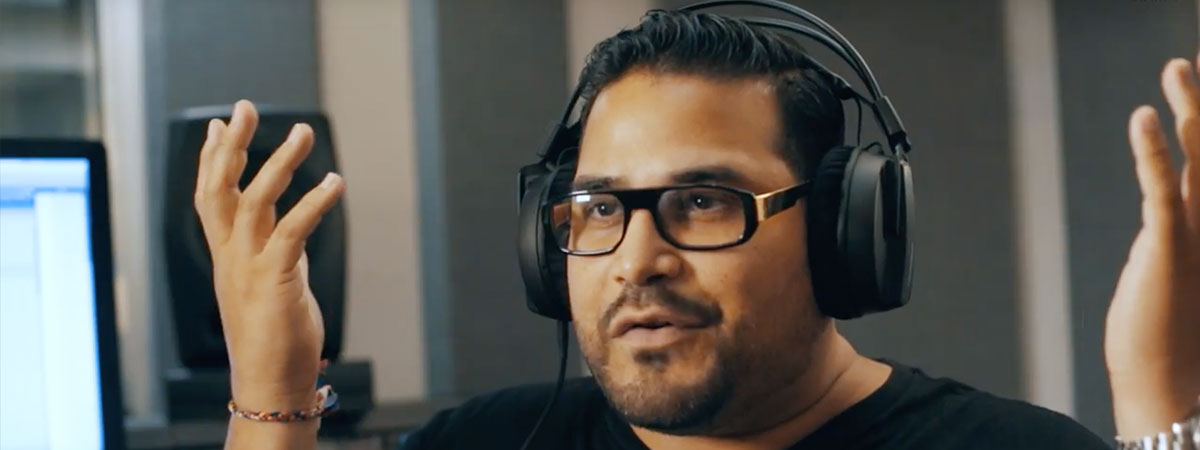 Junior Sanchez on the HRM-07 Studio Headphones