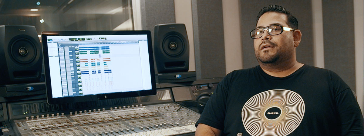 Junior Sanchez on the RM-07 Studio Monitors