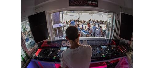 Pioneer DJ In Ibiza Cafe Mambo booth