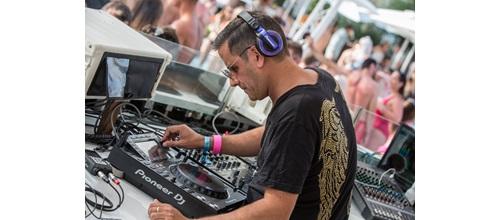 Pioneer DJ In Ibiza Soul Heaven booth