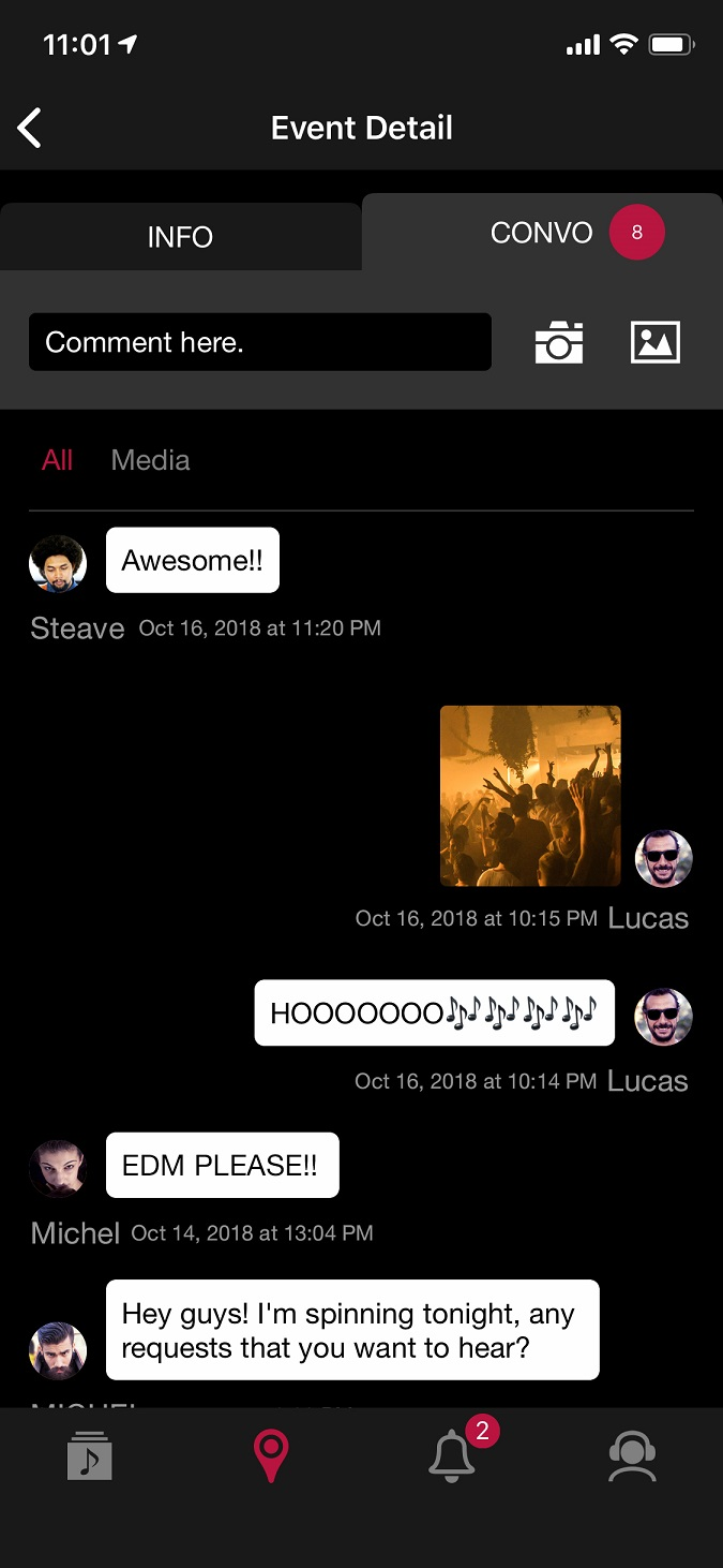 Convo feature