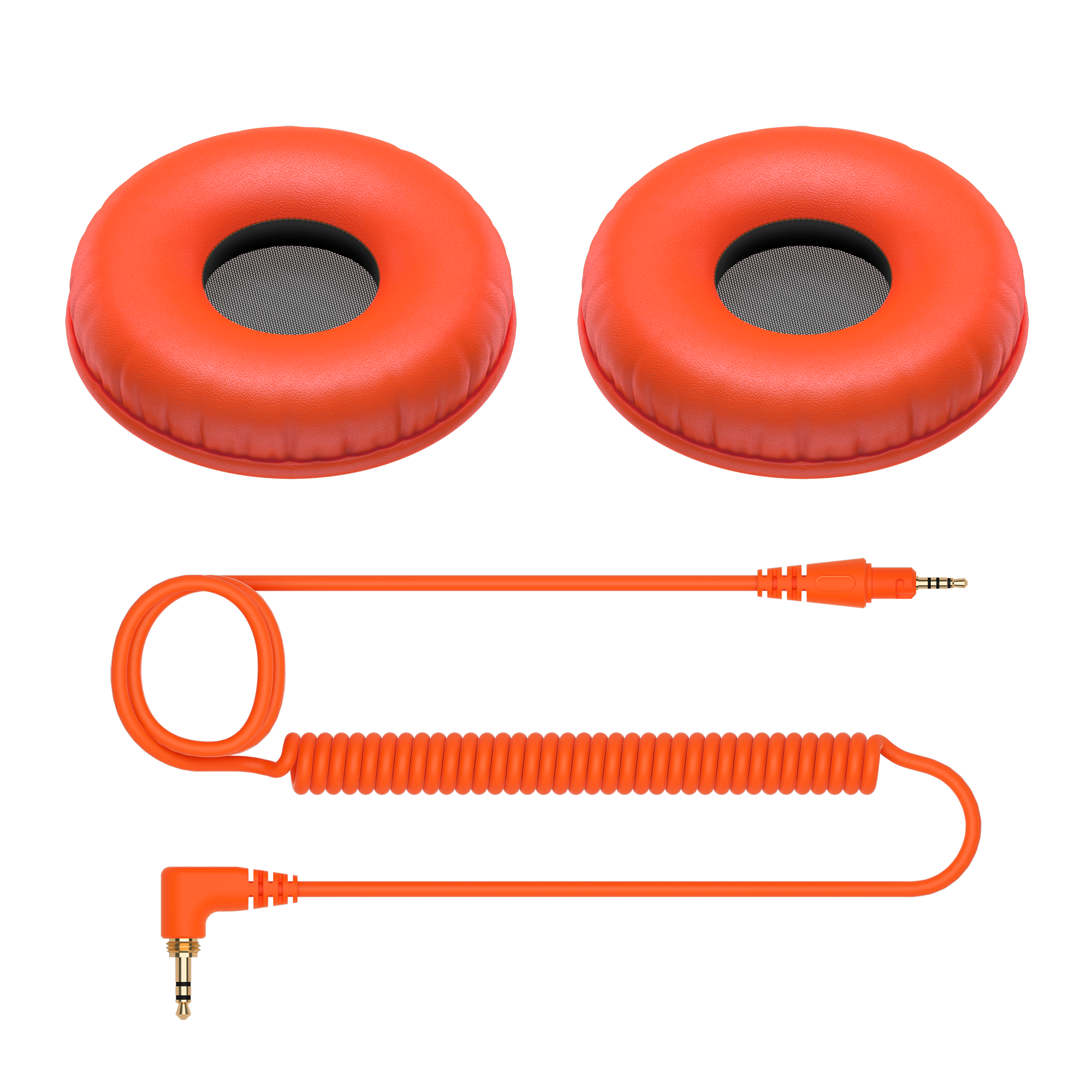 Color variation coiled cable and ear pads for HDJ-CUE1