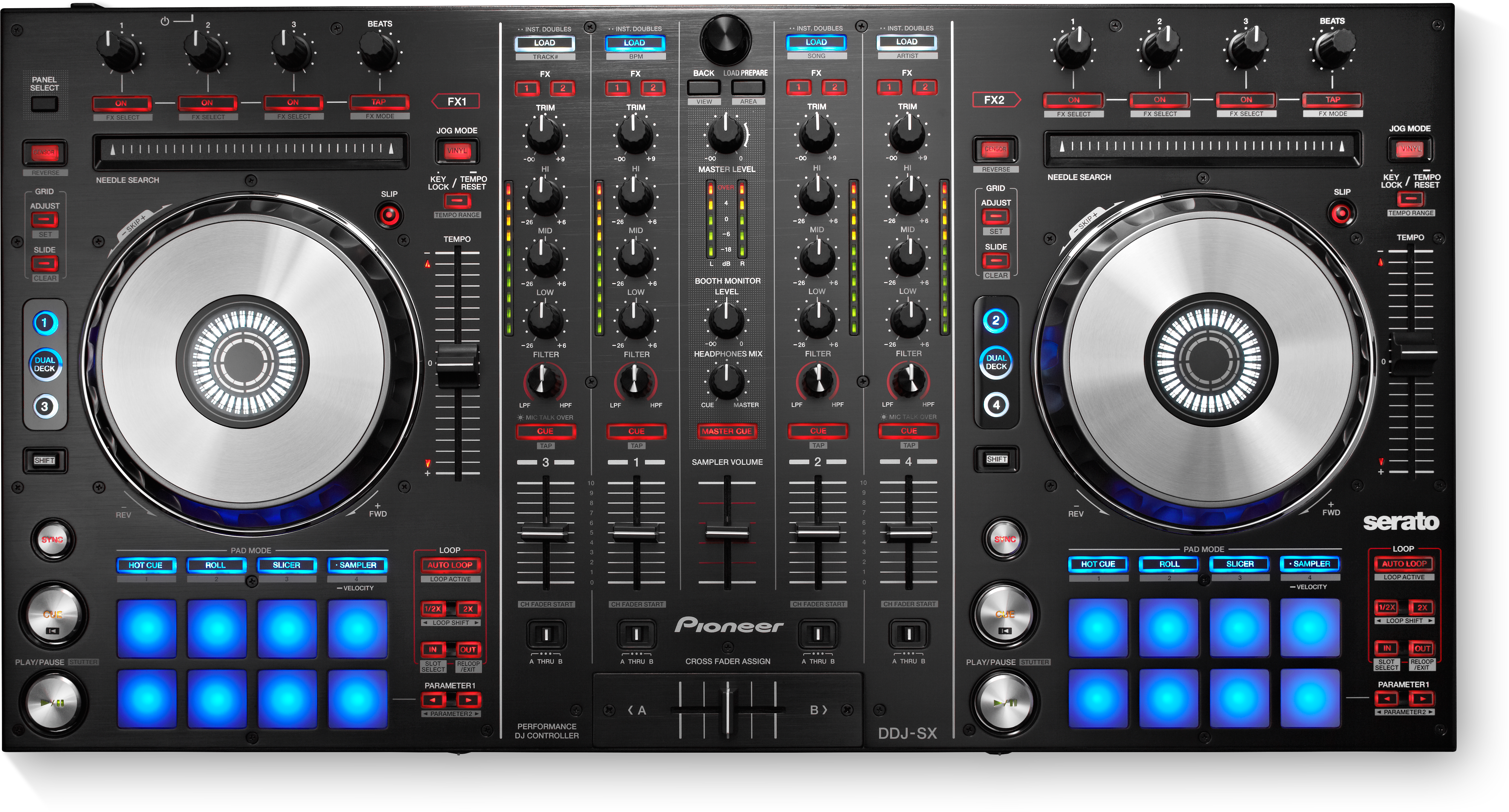 DDJ-SX (archived) 4-channel Serato DJ controller with