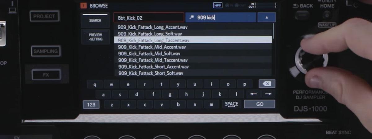 DJS-1000 Tutorial - Browsing