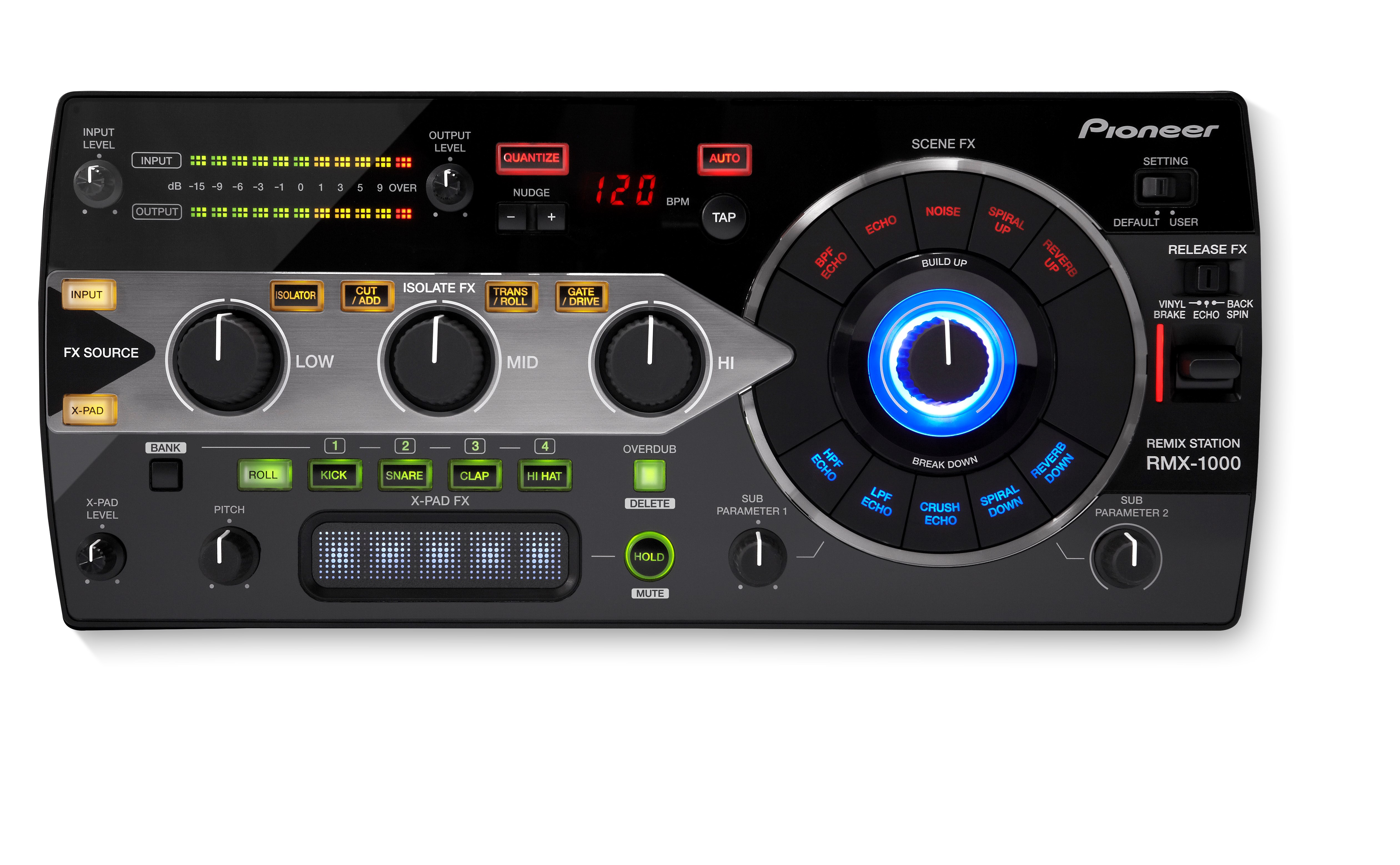 RMX-1000 3-in-1 remix station for editing, performing and