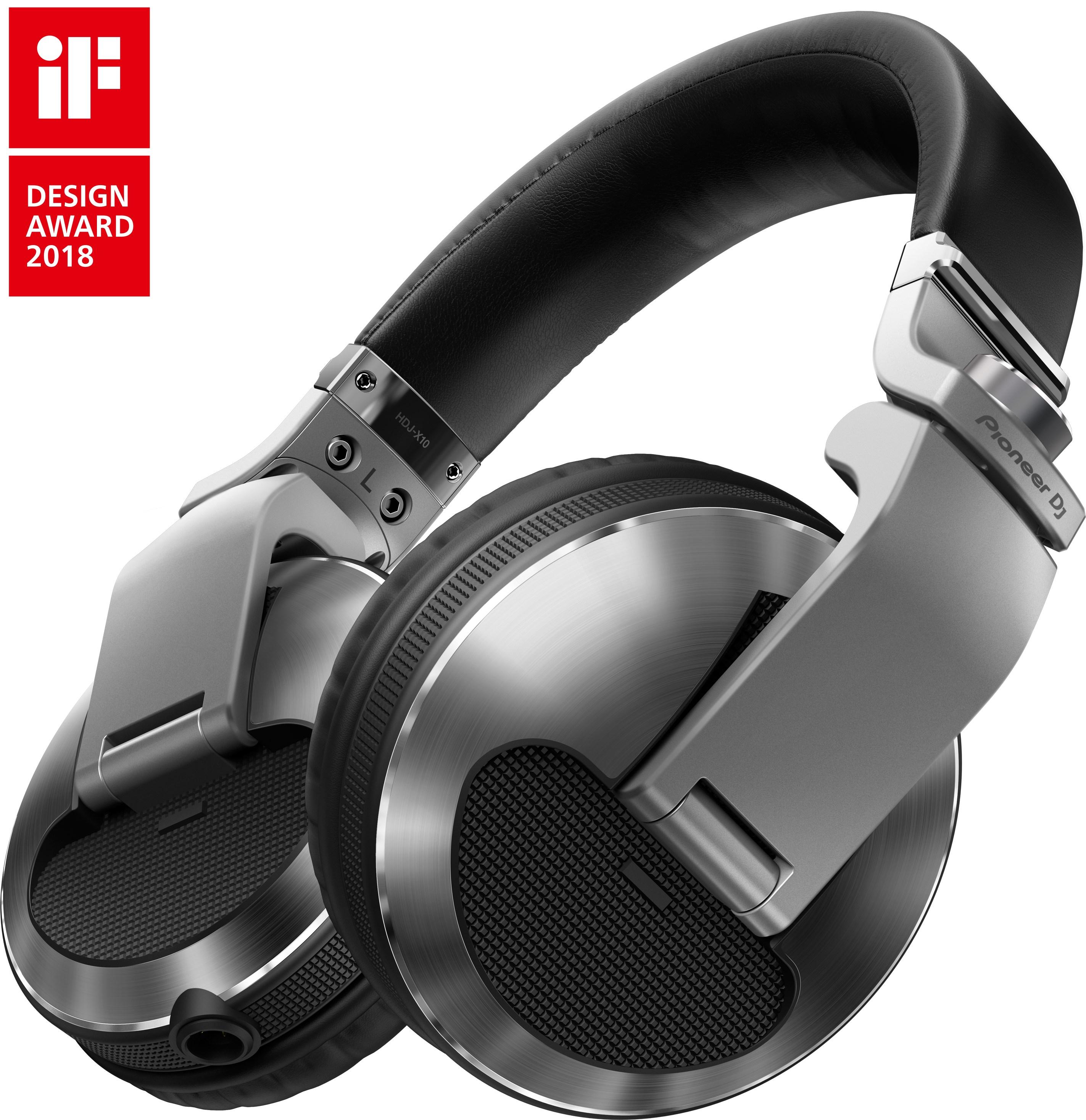 B@H STORE DJ HEADPHONES PIONEER HDJ-X10 SILVER