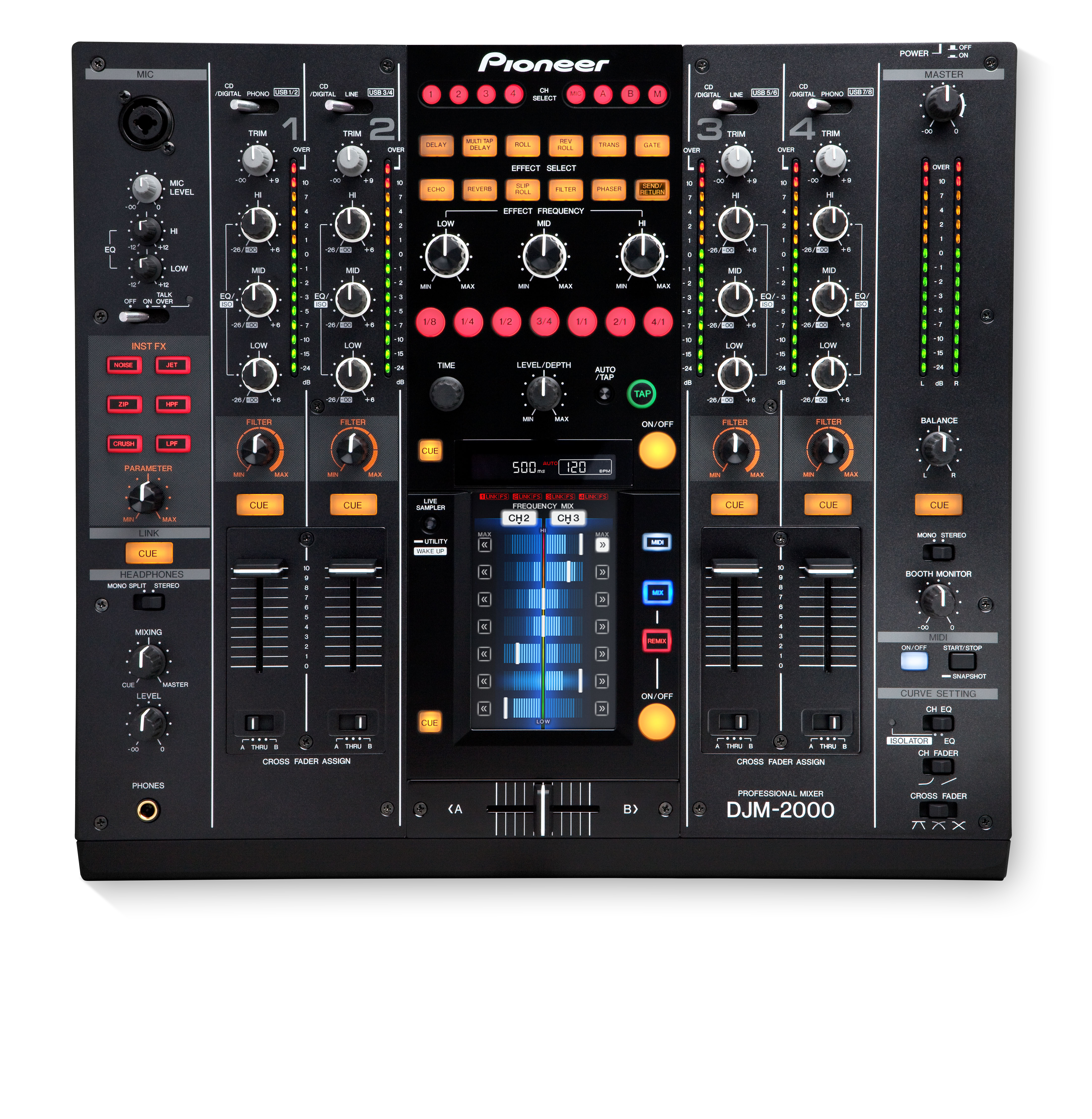 Djm 2000 Archived 4 Channel Remix Effects Controller