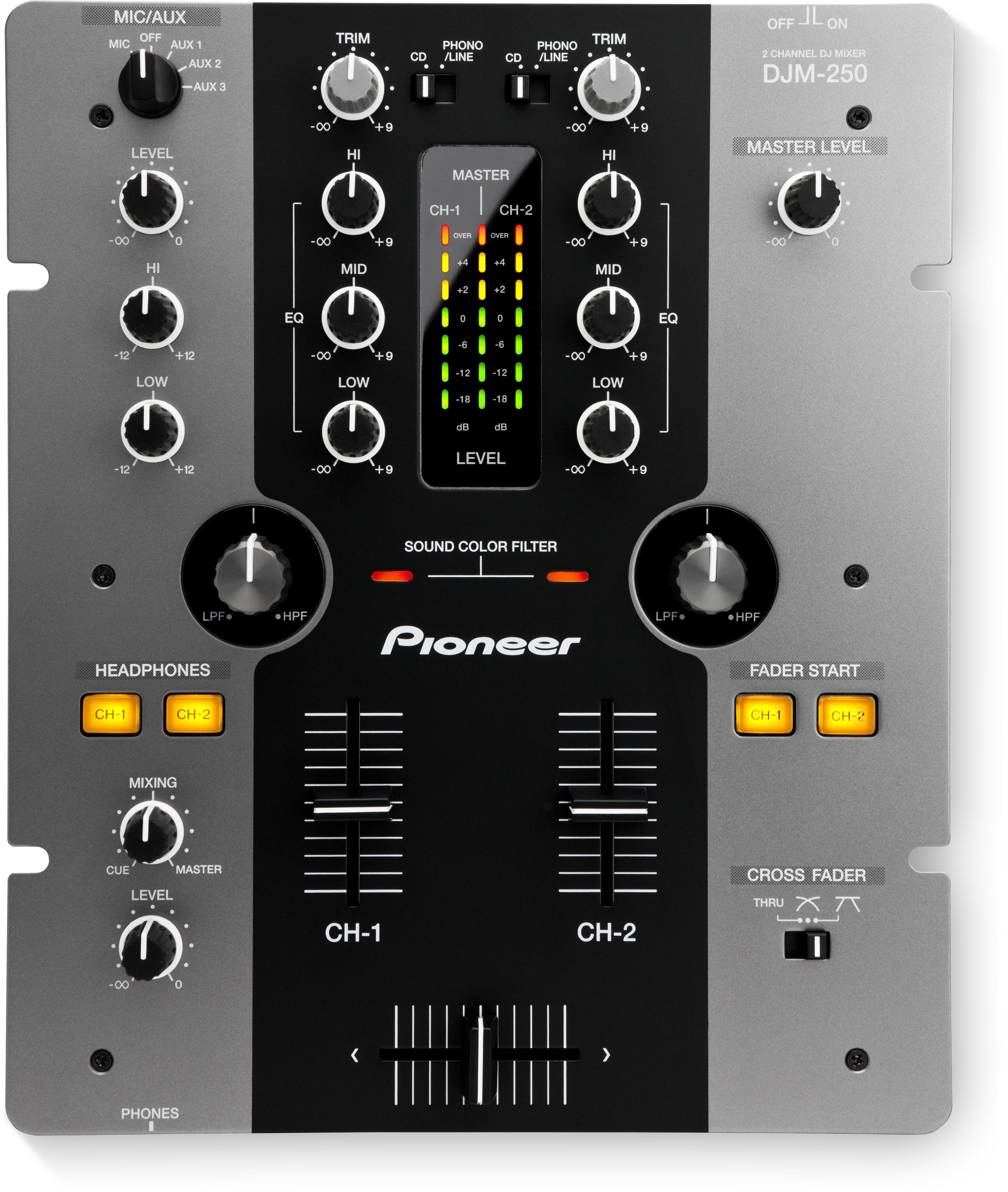 DJM-250-K (archived) 2-channel mixer (black) - Pioneer DJ