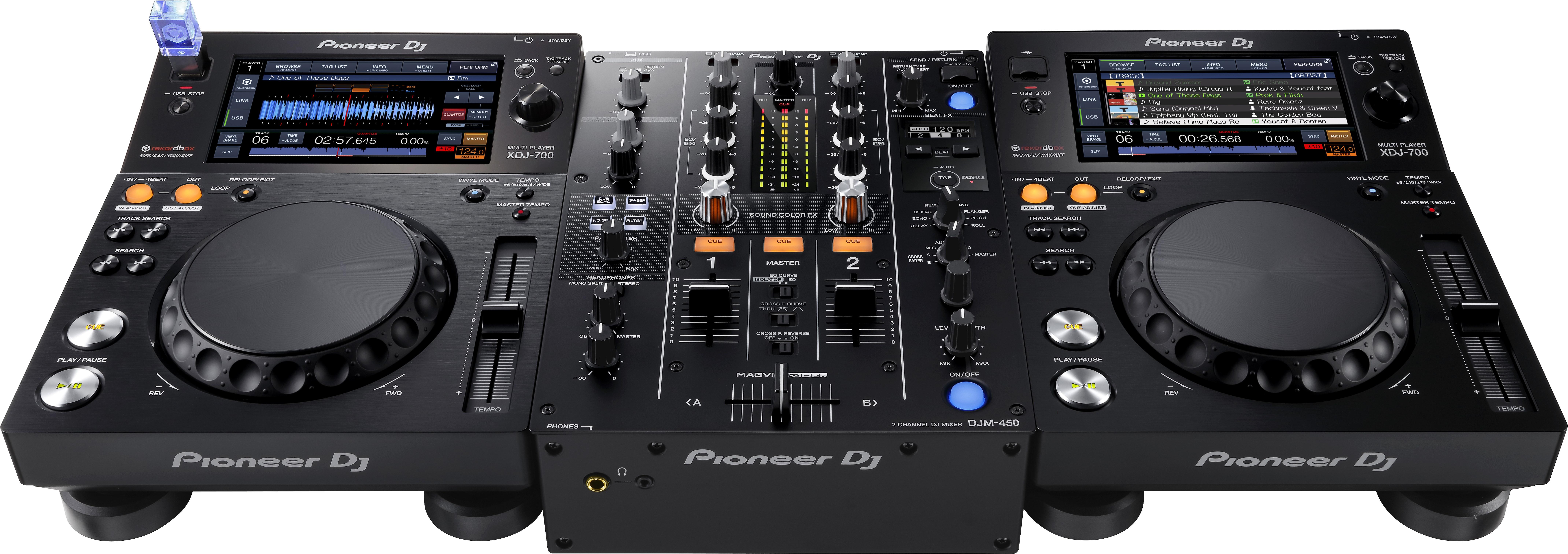 DJM-450 - XDJ-700