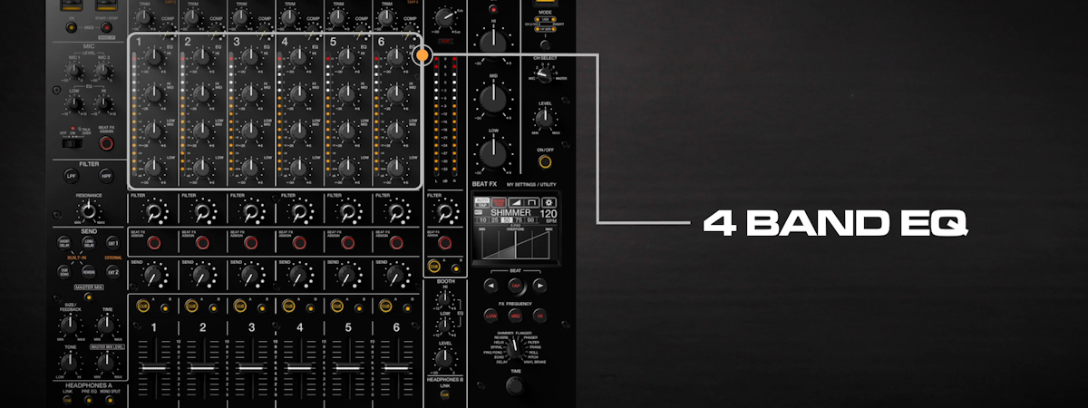 02 How to use 4band EQ DJMV10 6channel professional mixer tutorial seriesPRODUCTPAGE1200x450