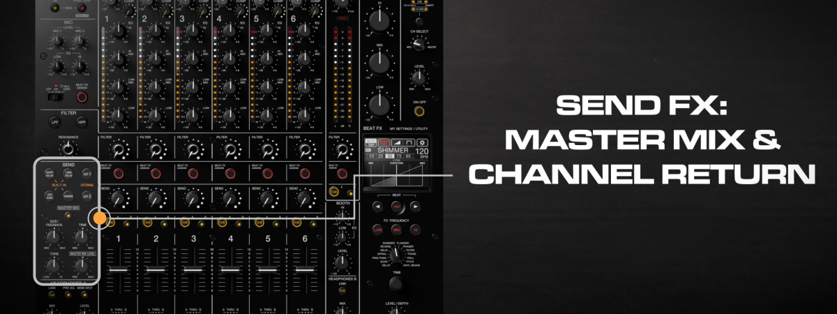 04 How to use Master Mix and channel returns DJMV10 6channel professional mixer tutorial seriesPRODU
