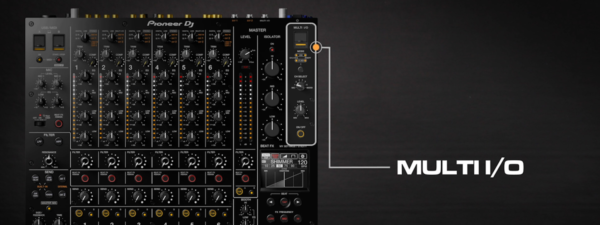 10 How to use MULTI IO DJMV10 6channel professional mixer tutorial seriesPRODUCTPAGE1200x450