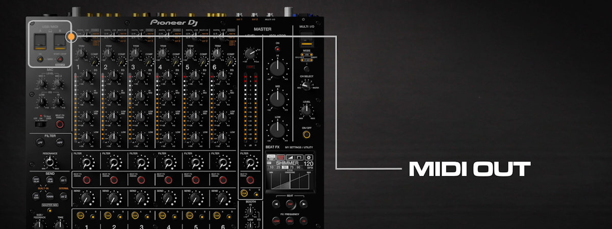 11 How to sync external gear via MIDI out DJMV10 6channel professional mixer tutorial seriesPRODUCTP
