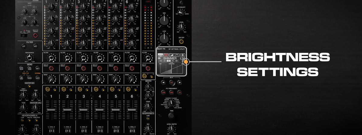 15 How to adjust the touch display  indicator brightness DJMV10 6ch pro mixer tutorial seriesPRODUCT