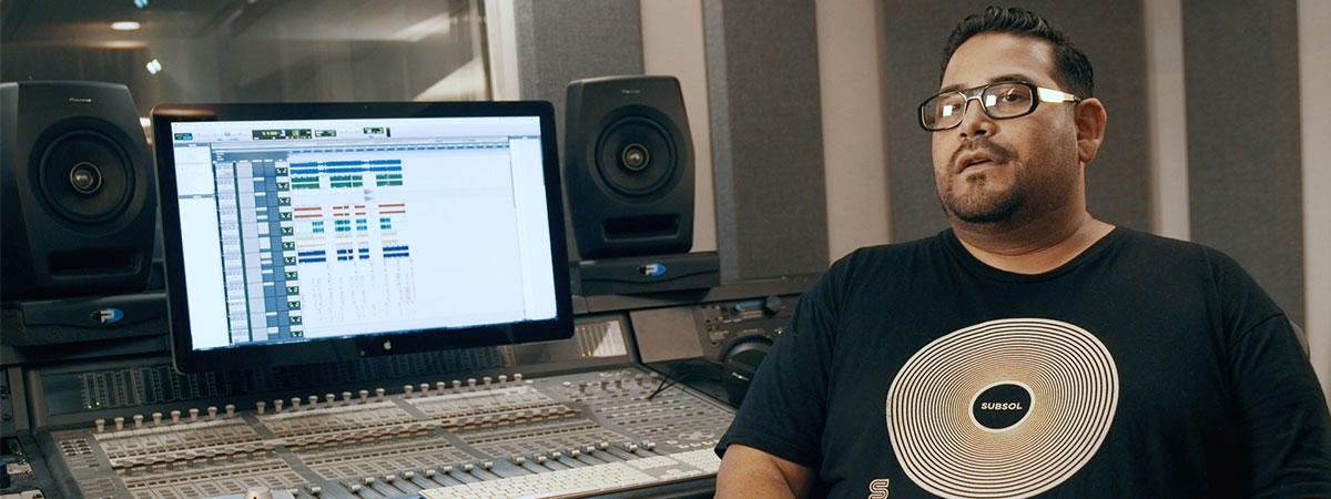 Junior Sanchez on the RM Studio Monitors