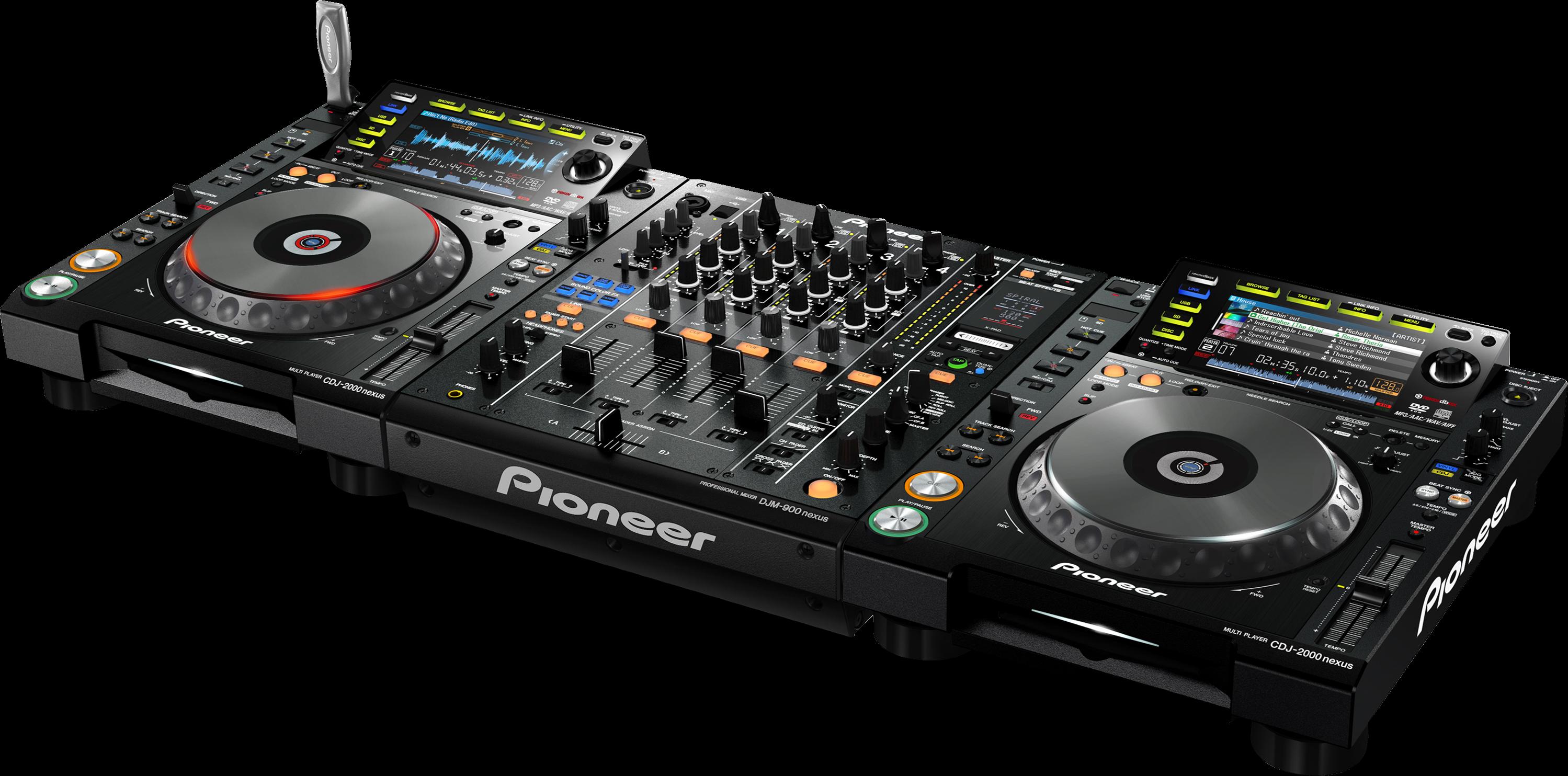 CDJ-2000NXS set with DJM-900NXS angle