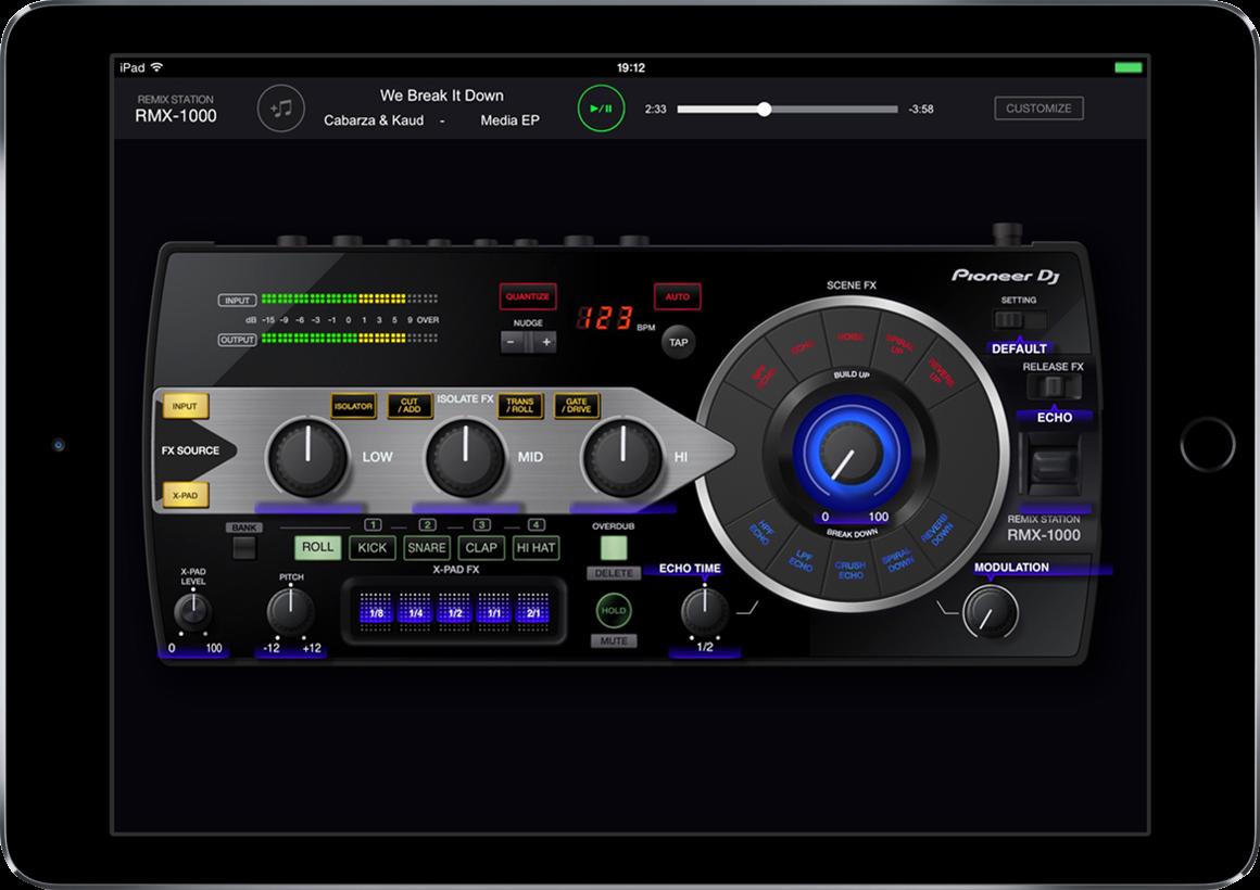 RMX-1000 app for iPad