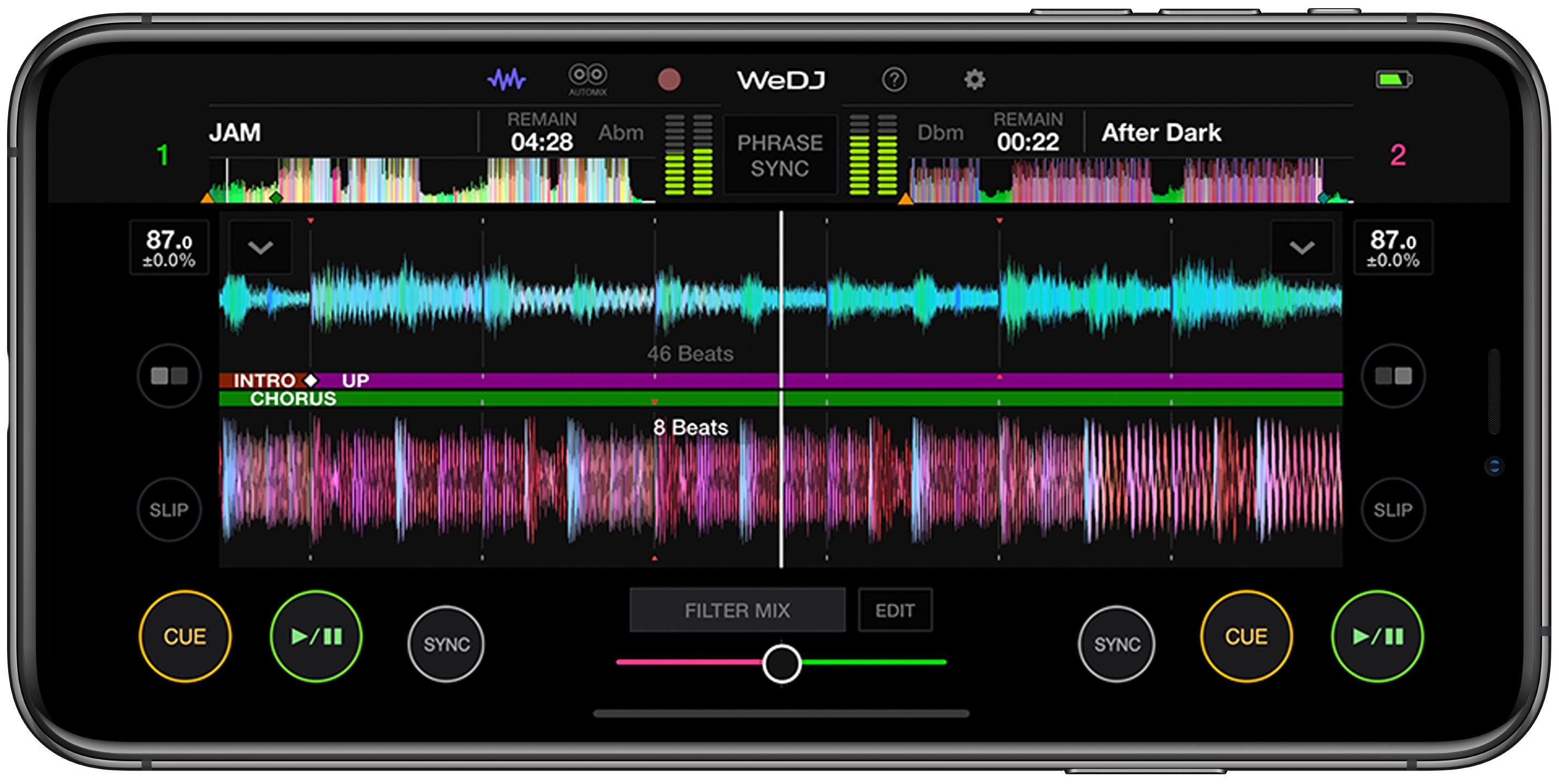 WeDJ for iPhone Mobile DJ app for iPhone (DJ-app) - Pioneer DJ